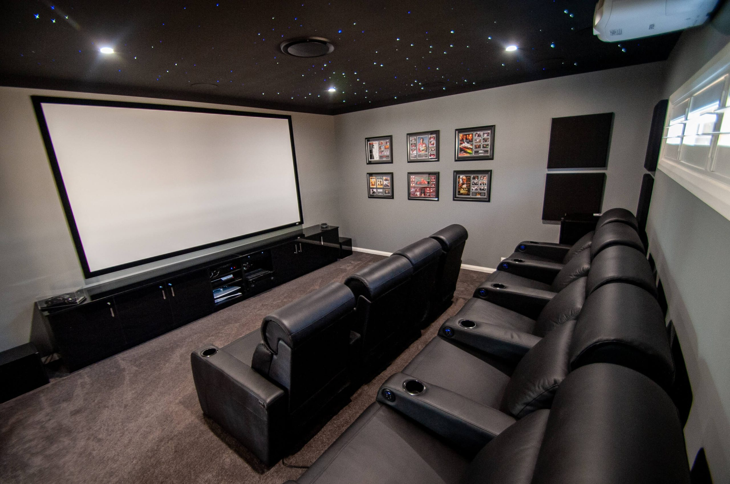 Riverina Home Gets Cinema Room To Die For With Full Cinema-Style Seating & Star Ceiling